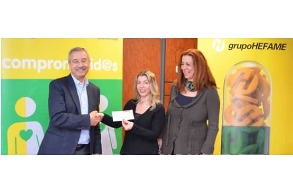 Acto de Entrega del Cheque de la Carrera HEFAME (Murcia)