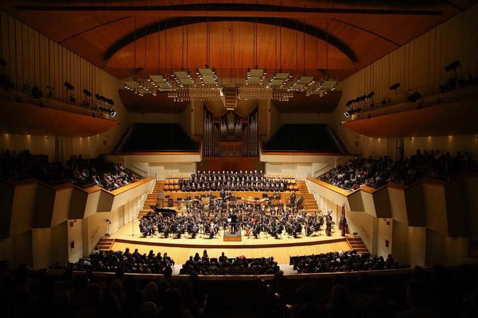 Concierto de la Agrupación Musical Los Silos de Burjassot en el Palau de la Música de Valencia