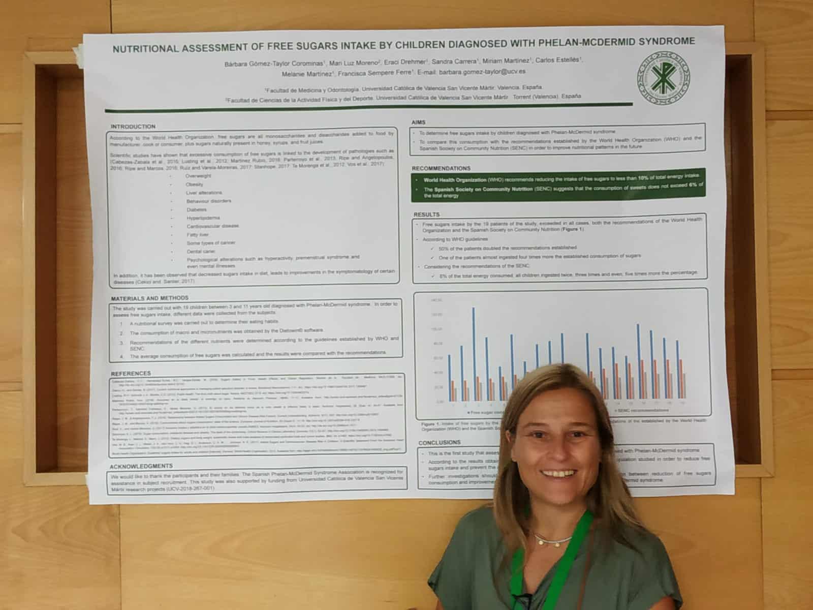 Presentado el primer estudio sobre el Estado Nutricional en el síndrome Phelan-McDermid.