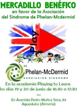 Mercadillo Benéfico a favor de la Asociación Síndrome Phelan Mcdermid